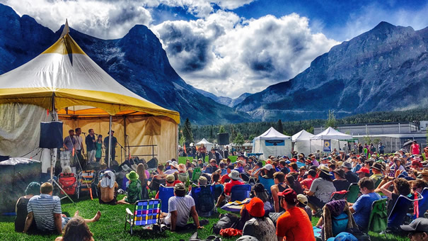 Young'uns at the Canmore Folk Festival